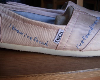 CUSTOM Favorite Embroidered TOMS