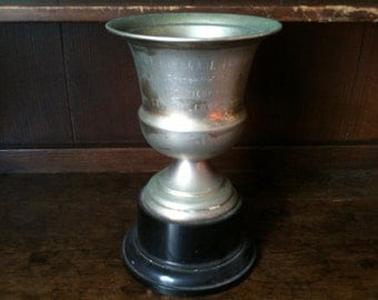 Vintage English large trophy cup The Highgate Trophy circa 1960's / English Shop