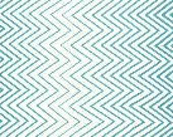 "End of Bolt 8"" of Simply Style Aquatic Blue Zig Zag Ombre by V and Co for Moda"