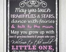 Baby Girl Quote Printable 11x14 Print