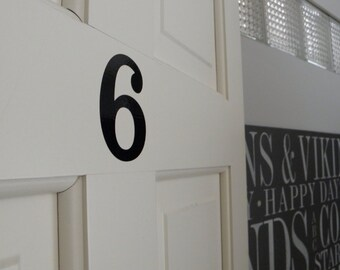 Vinyl Number Decals Number Stickers Numbers Labels Set of Number Stickers
