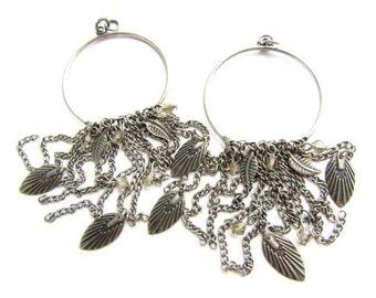 Multi Chain Hoop Danglers/ Big Earring Hoops