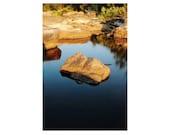 "Nature Photography of Missouri Ozarks - ""Evening Light and Rock at Tiemann Shut Ins"" - 12x18 Print"