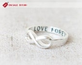 ON SALE - Love Forever Infinity Ring in silver - laonato