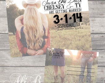 Rustic Save the Date Post Card Printable