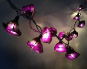 20 Bulbs Handmade Classic Purple Rose string lights for Patio,Wedding,Party and Decoration