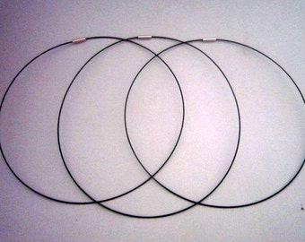 """20"""" Black Magnetic Neckwire for Pendants"""