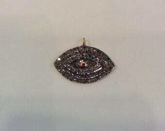 Pave Diamond Evil Eye Pendant