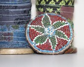 Antique Tribal Beadwork Medallion
