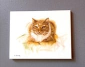 Leo The Orange Cat Feline Art Pet Portrait