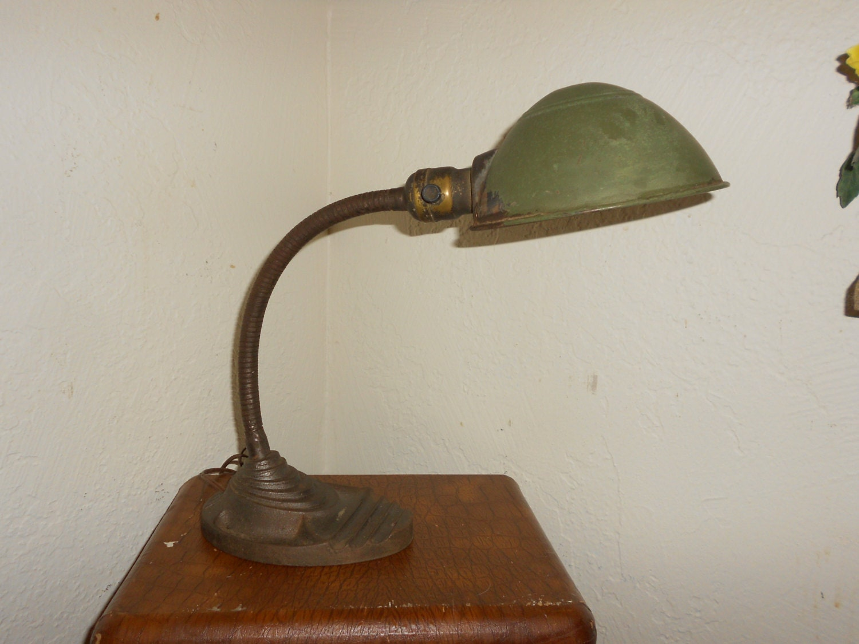 Industrial Lamp Steampunk Gooseneck Desk Lamp Ornate Cast