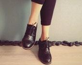 FRAN - Black -  Handmade Leather Shoes
