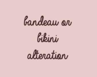 Customizing your bandeau or bikini