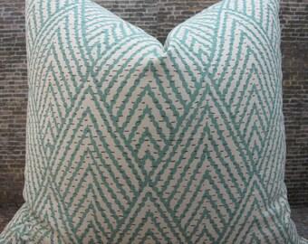 Designer Pillow Cover - Lumbar, 16 x 16, 18 x 18, 20 x 20- Tahitian Stitch Horizon