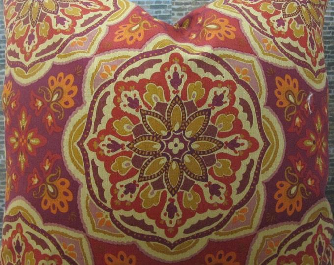Designer Pillow Cover - Lumbar, 18 x 18 - Medallion Tile Cordial