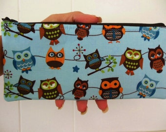 Sale Owls Pencil case-Riley Blake