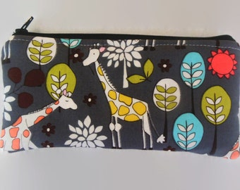 Giraffes Pencil Case/cosmetic pouch