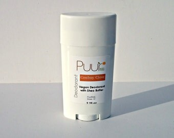 Vegan Natural Deodorant - Men's Deodorant - Leather Scent - Aluminum Free Deodorant with Clay