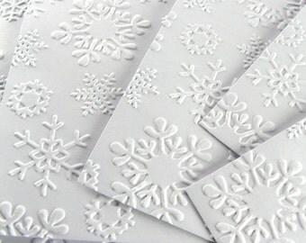 Gift Card Envelopes - Small Card Holder Packaging in White Snowflake Design