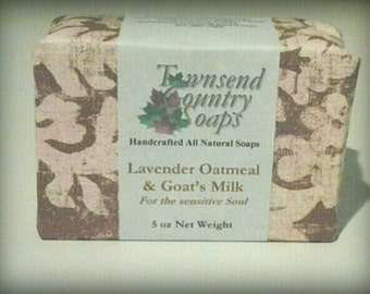 All Natural Lavender Oatmeal with Goat's Milk Soap