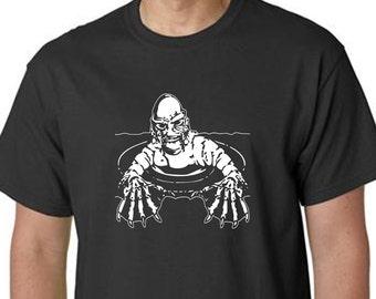 CREATURE from the BLACK LAGOON halloween shirt screen printed t-shirt black