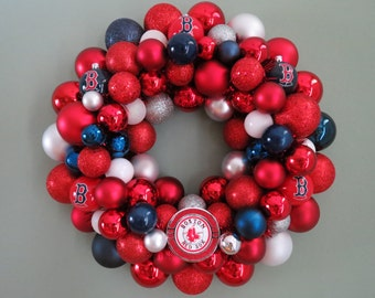 Reserved--BOSTON RED SOX Ornament Wreath