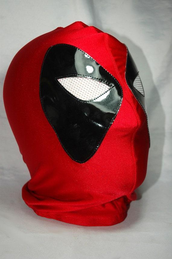 Deadpool Superhero Halloween Wrestling Mask By RomeroMaskShop Rey