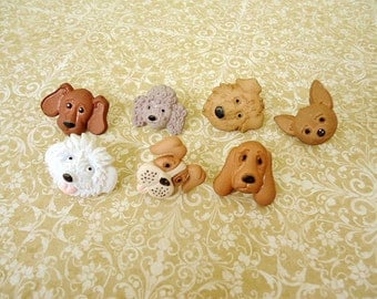 Dog Thumbtack or Magnet, Dog Push Pin or Magnets, Animal Notice Board Pins or Magnets