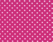 Dumb Dot in Fuchsia by Michael Miller, 1 yard