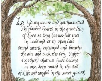 Like Planted Hearts print (small)