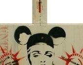 Madonna Painting Rebel Heart 11x23 Disney Art For Freedom Original Artwork Stencil Art Pop Art Mashup Stencil Tag Spray Paint Baksy Print