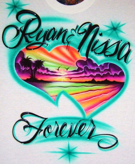 Airbrush T Shirt Design Ideas For Couples