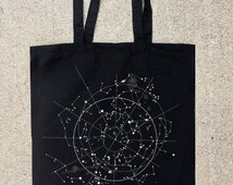 Celestial Map of the Night Sky - Tote Bag