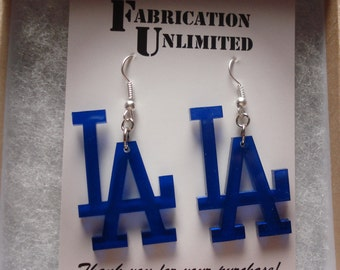 "CUSTOM Word or Design Earrings - Up to 5 letters, 2"" long"