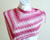 Hand knitted Summer scarf bamboo scarf pink scarf hand knit accessory woman scarf shawl summer breeze handmade fashion bamboo yarn knitting
