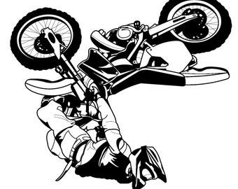 Stunt Biker Upsidedown  // FLONZ Clear stamp clingy acrylic