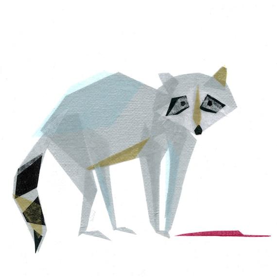 Wally Raccoon - Animal Art Print