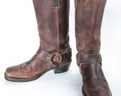 FRYE Brown Harness Boot Womens Size 8