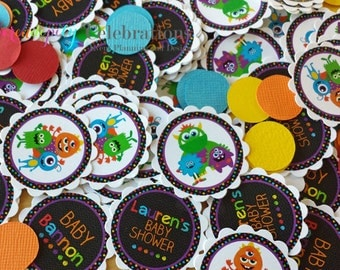 Personalized Table Confetti, Monster Bash Confetti -Table Minis -Monster Party -Monster Birthday -1st Birthday -Baby Shower