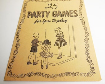 25 Party Games for You to Play - Whitman - 1952 - Vintage Ephemera