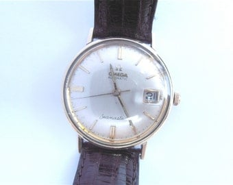 Vintage 70s Omega Seamaster Automatic Date Mens Dress Watch Vintage 70s Omega Seamaster Unishell Watch Vintage Omega Automatic Mens Watch