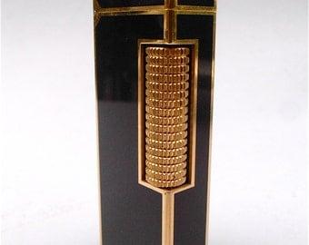 Vintage Dunhill Cigarette Lighter Dunhill Black Lacquer Cigar Lighter Dunhill Gloss Lacquer Gold Plated Mens Dunhill Rollagas Lighter