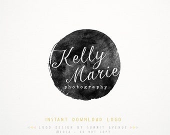 DIY INSTANT DOWNLOAD - Watercolor Calligraphy Premade Logo Design for Photography or Boutique by Summit Avenue