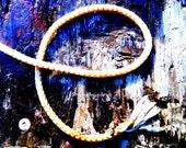 Alphabet Letter E Photograph Digital Rustic Rope Western Instant Download 5 Photographs
