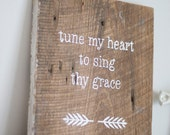 "Rustic ""Come Thou Fount of Every Blessing"" Wall Hanging"