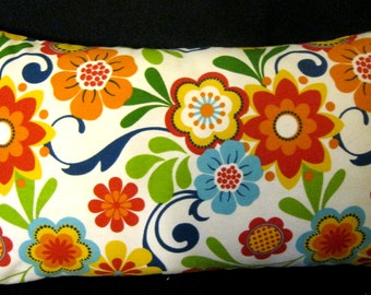 Floral Flair Flowers  Pillow cover 14 X 24