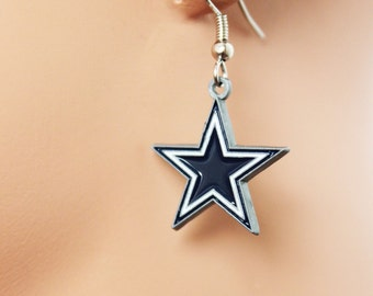 Dallas Cowboys Earrings, Football Fans Earrings, NFL Earrings, Perfect Gift for Football Fans, Birthday Gift, Christmas Gift