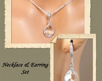 Bridal Jewelry Set, Earrings Necklace Jewelry Set, Wedding Jewelry Set, Bridesmaids Jewelry Set