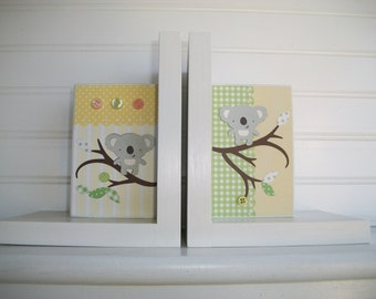 Bookends for Children .Nursery Room Decor . Boutique Bookends. Custom Bookends. Austalian Theme