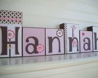 Name Blocks . Ava Mod Giraffe. Nursery Name Blocks . Nursery Decor . Baby Letter Blocks . Wood Name Blocks .
